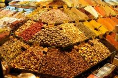 义卖市场伊斯坦布尔香料 免版税库存照片
