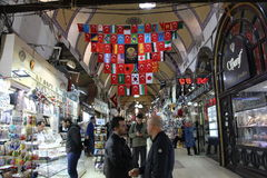 义卖市场全部伊斯坦布尔界面 库存照片