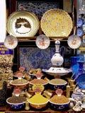义卖市场全部伊斯坦布尔纪念品 免版税库存照片