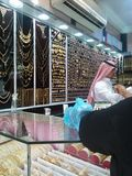 义卖市场全部伊斯坦布尔首饰店 库存图片