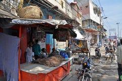 义卖市场印度街道 免版税库存照片