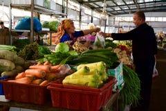 义卖市场在喀什 图库摄影