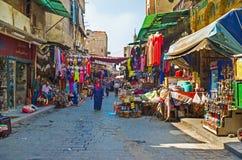 义卖市场在开罗伊斯兰老城 库存图片