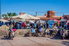 义卖市场在马拉喀什,摩洛哥 免版税图库摄影