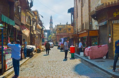 义卖市场街道 库存图片