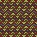 之字形抽象蜡染布样式 图库摄影