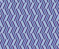 之字形蓝色无缝的样式 库存图片