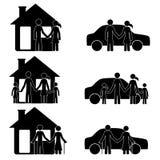 之家和汽车 免版税库存照片