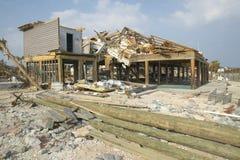 之家由Hurricane Ivan大量地击中了 库存照片