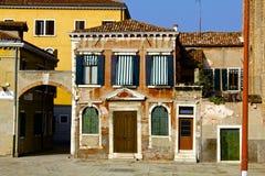 之家艺术性的外部在威尼斯 库存图片