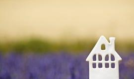 之家,淡紫色领域的。 普罗旺斯。 免版税库存图片