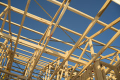 之家Buliding木制框架 库存照片
