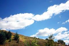 之间美好的夏天风景天际线 免版税库存图片