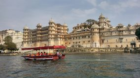 乌代浦市宫殿,拉贾斯坦,印度 库存照片