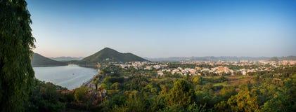 乌代浦市,拉贾斯坦,印度鸟瞰图  库存照片