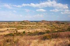 乌克兰。自然储备石头坟茔 图库摄影