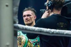 乌克兰专业拳击手Oleksandr Usyk画象  免版税库存照片