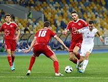 乌克兰人英格兰足球超级联赛比赛基辅迪纳摩对Volyn卢茨克 免版税图库摄影