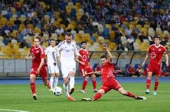 乌克兰人英格兰足球超级联赛比赛基辅迪纳摩对Volyn卢茨克 图库摄影