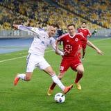 乌克兰人英格兰足球超级联赛比赛基辅迪纳摩对Volyn卢茨克 库存图片