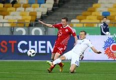 乌克兰人英格兰足球超级联赛比赛基辅迪纳摩对Volyn卢茨克 免版税库存图片