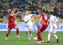 乌克兰人英格兰足球超级联赛比赛基辅迪纳摩对Volyn卢茨克 库存照片
