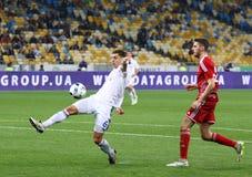 乌克兰人英格兰足球超级联赛比赛基辅迪纳摩对Volyn卢茨克 免版税库存照片