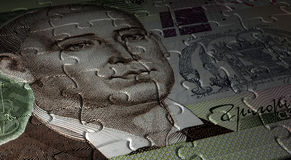 乌克兰人Hryvnia难题 免版税库存照片
