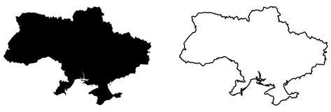 乌克兰传染媒介图画仅简单的锋利的角落地图  木鲁旰 向量例证