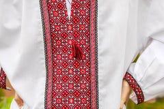 乌克兰传统刺绣衬衫的硬前胸 库存图片