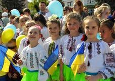 乌克兰刺绣Day_7的庆祝 免版税库存照片