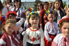 乌克兰刺绣Day_9的庆祝 免版税库存图片