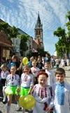 乌克兰刺绣Day_11的庆祝 库存照片
