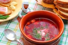 乌克兰和俄国全国烹调罗宋汤 库存照片