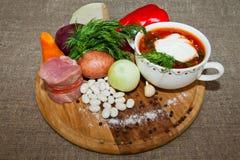 乌克兰和俄国全国红色罗宋汤 免版税库存图片