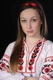 乌克兰国家服装的女孩 免版税库存照片