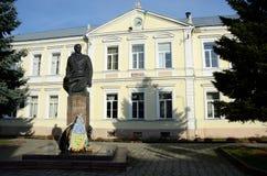 乌克兰国民和独立运动领导-斯捷潘・班杰拉雕象  免版税库存照片