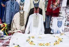 乌克兰国民被绣的衣裳 免版税图库摄影