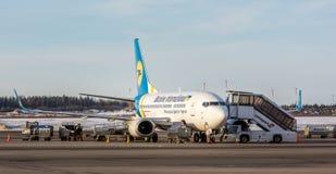 乌克兰国际平面装货 库存照片