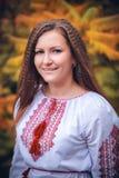 乌克兰女孩的画象 免版税库存图片
