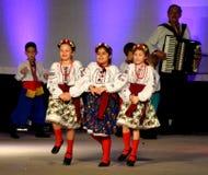 乌克兰女孩舞蹈家 库存图片