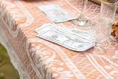 乌克兰婚姻的传统是新郎的新郎的赎金 免版税库存图片