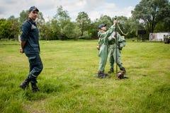 乌克兰对壕兵的新的设备 免版税库存照片