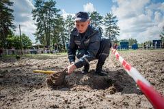 乌克兰对壕兵的新的设备 图库摄影