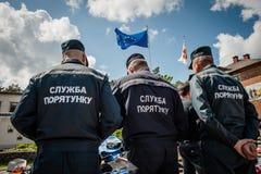 乌克兰对壕兵的新的设备 免版税库存图片