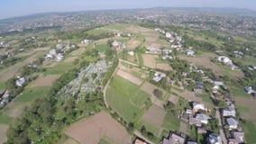 乌克兰小镇的鸟瞰图 寄生虫视图 库存图片