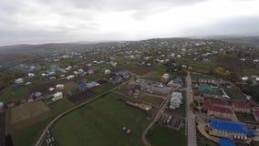 乌克兰小镇的鸟瞰图 寄生虫视图 库存照片