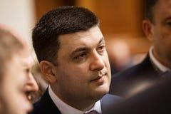 乌克兰弗拉基米尔Groisman的Verkhovna Rada的主席 库存照片