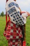 乌克兰当地women& x27; s伙计礼服 免版税库存图片