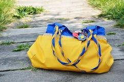 乌克兰手工制造袋子 库存图片